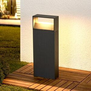 Lindby LED svítidlo se soklem Kjella v tmavě šedé