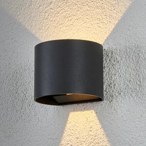 Lindby Půlkruhové LED venkovní nástěnné svítidlo Ella