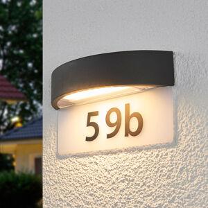Lindby LED osvětlení domovního čísla Alena, půlkruhové