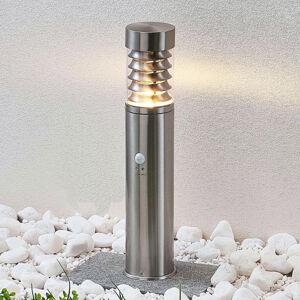 Lindby Lindby Piper senzor, sokl. světlo z nerezové oceli