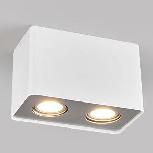 Lampenwelt.com LED downlight GU10 Giliano, 2zdroj, hranaté, bílé