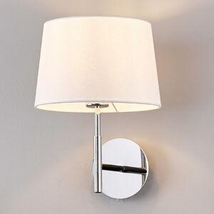 Lucande Nástěnné světlo Dorothea, bílé textilní stínidlo