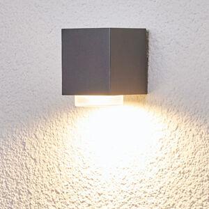 Lindby Jovan venkovní nástěnné svítidlo v tmavě šedé