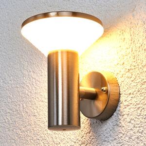 Lindby Venkovní nástěnné svítidlo z nerezu Tiga s LED