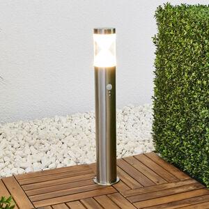 Lindby Sloupkové svítidlo Fabrizio s LED a snímačem