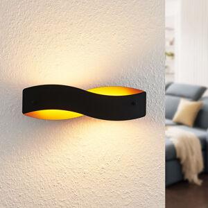 Arcchio Arcchio Shana LED nástěnné světlo, černé a zlaté