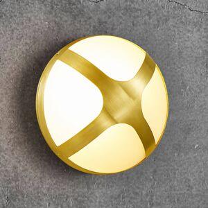 Nordlux Venkovní nástěnné světlo Cross mosaz, Ø 20,5 cm