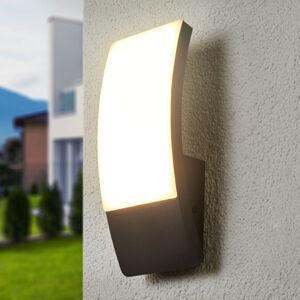 Lucande Klenutá venkovní LED lampa Siara, tmavě šedá
