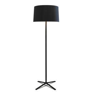GROK Grok Hall stojací lampa s látkovým stínidlem černá