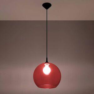 SOLLUX Závěsné světlo Colour, stínidlo červené