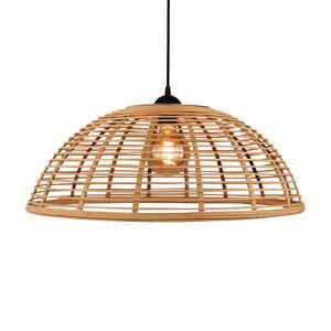 Brilliant Závěsné světlo Crosstown, bambus světlý, Ø 48 cm