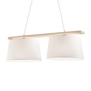 LamKUR Závěsné světlo Sweden, dva zdroje, starobylá bílá