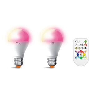 iDual iDual One E27 A60 9,5W 2ks RGBW, dálkové ovládání