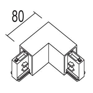IVELA Ivela 90° rohový vnitřní pro LKM quadro, bílá