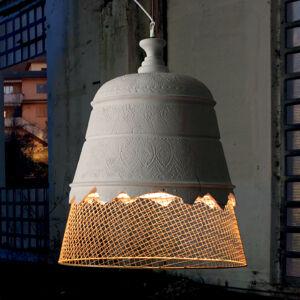 Karman Karman Domenica sádrové závěsné světlo zlatá, 50cm