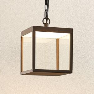 Lucande Venkovní LED světlo Cube se stínidlem, 18 cm