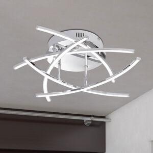 FISCHER & HONSEL LED stropní světlo Cross 5 zdrojů, chrom