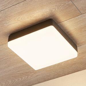 Lampenwelt.com LED stropní svítilna Thilo, IP54, šedá, 24 cm