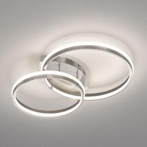 FISCHER & HONSEL LED stropní světlo Nomade, stmívatelné, nikl
