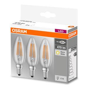 OSRAM LED vláknová svíčka E14 4W, teplá bílá, sada 3