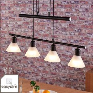 Lindby Závěsné LED světlo Eleasa, easydim, 4bodové, černé