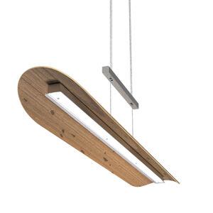 Elobra LED závěsné světlo Colombia XL, dub se suky
