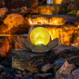 Globo LED solární světlo 33655, květina, Ø 22 cm