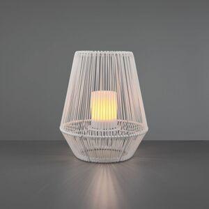 Reality Leuchten LED solární stolní lampa Mineros bílá výška 30,5cm