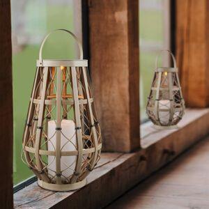 Reality Leuchten LED solární lampa Vinto, baterie, béžová, 44,5cm
