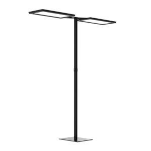 WALDMANN Stojací lampa LED Yara.double VTL, PIR, černá
