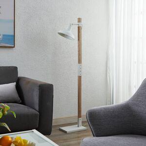 Lindby Lindby Calliora stojací lampa bílá, kov a dřevo