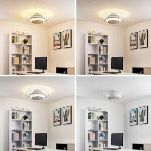 Lindby Lindby Ilvie LED stropní ventilátor, bílý