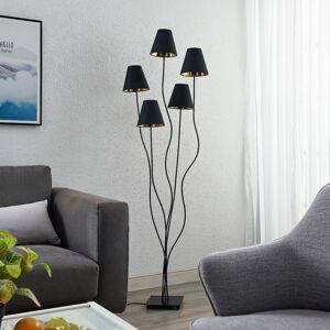 Lindby Lindby Komalie stojací lampa, pět zdrojů, černá