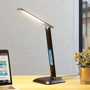 Lindby Lindby Ludmilla stolní lampa LED, displej, černá