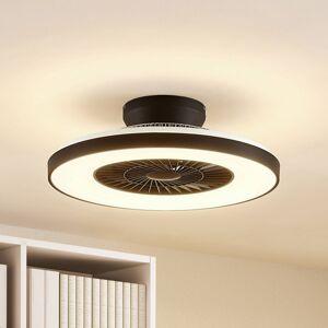 STARLUNA Starluna Orligo LED stropní ventilátor černý matný