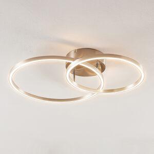 Lindby Lindby Sarafia LED stropní světlo ze dvou kruhů