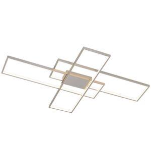 Lindby Lindby Tetson LED stropní světlo, nikl satinovaný