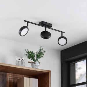 Lindby Lindby Vesim LED reflektor, černý, třížárovkový