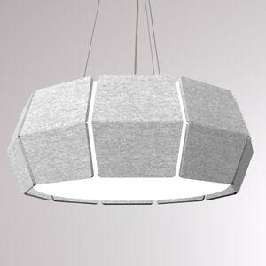 LOUM LOUM Decafelt LED závěsné světlo šedá Ø 76 cm
