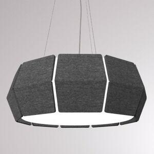 LOUM LOUM Decafelt LED závěsné světlo černá Ø 54 cm