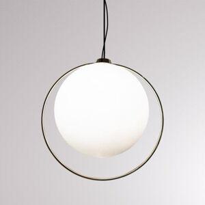 LOUM LOUM Tycho závěsné světlo s mosazným kruhem