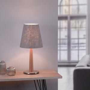Lucande Lucande Elif stolní lampa, plsť, kónus, dub