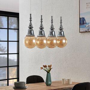 Lucande Lucande Gesja závěsné světlo, 4, podlouhlé, chrom