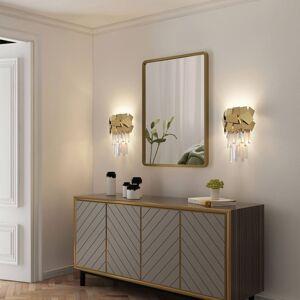 Lucande Lucande Miraia křišťálové nástěnné světlo, zlatá