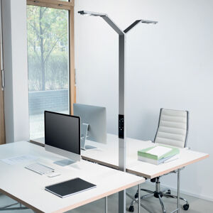 Luctra Luctra Floor Twin Linear LED stojací lampa hliník