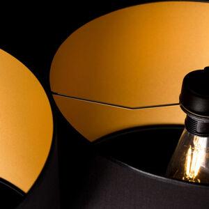 EMIBIG LIGHTING Závěsné světlo Roto 3 černá zlatý vnitřek stínidla