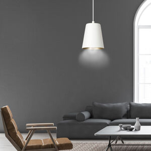 EMIBIG LIGHTING Závěsné světlo Milagro, jeden zdroj, bílá/zlatá