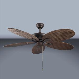 LEDS-C4 PHUKET stropní ventilátor v proutěném vzhledu