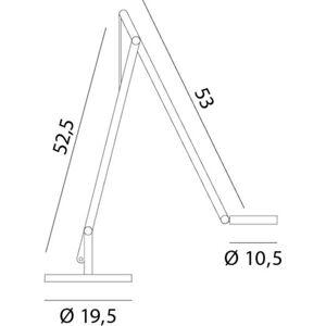Rotaliana Rotaliana String T1 DTW LED stolní lampa bílá