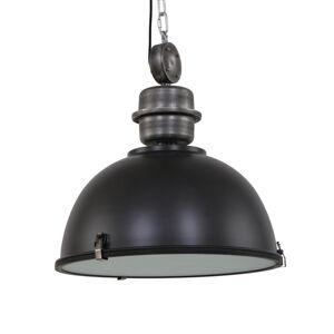 Steinhauer BV Černé industriální závěsné světlo Bikkel L02